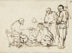 Christ Washing the Disciples' Feet by Rembrandt