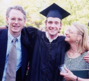 Paul, John, and Jill Miller at John's College Graduation